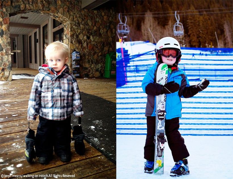 Toddler ski outfit