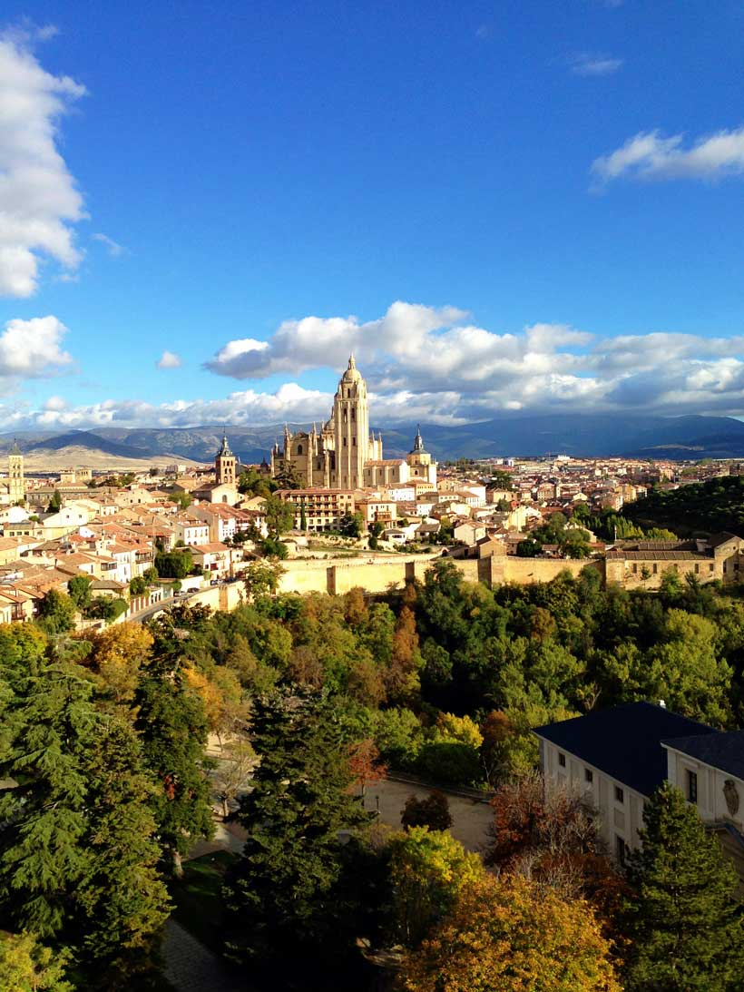 Segovia to Madrid Spain