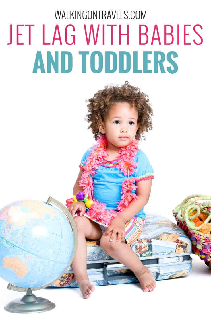 Parent's Guide to Jet Lag with Babies and Toddlers: Jet lag with kids isn't as scary as you may think and we have the jet lag cure you have been looking for. These jet lag tips will help you get through those first few nights when traveling with babies and traveling with toddlers no matter where your family vacation takes you. #jetlag #travelwithkids #familytravel #babytravel #parenting