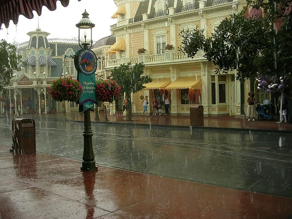 Raining at Walt Disney World