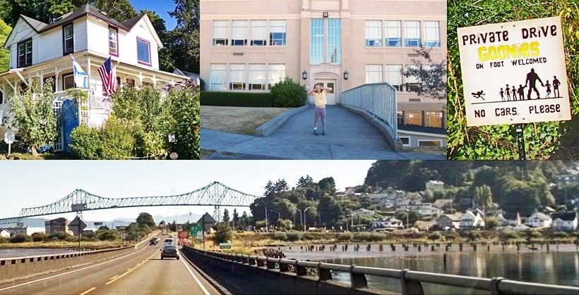 Astoria Goonies House Kindergarten Cop Bridge
