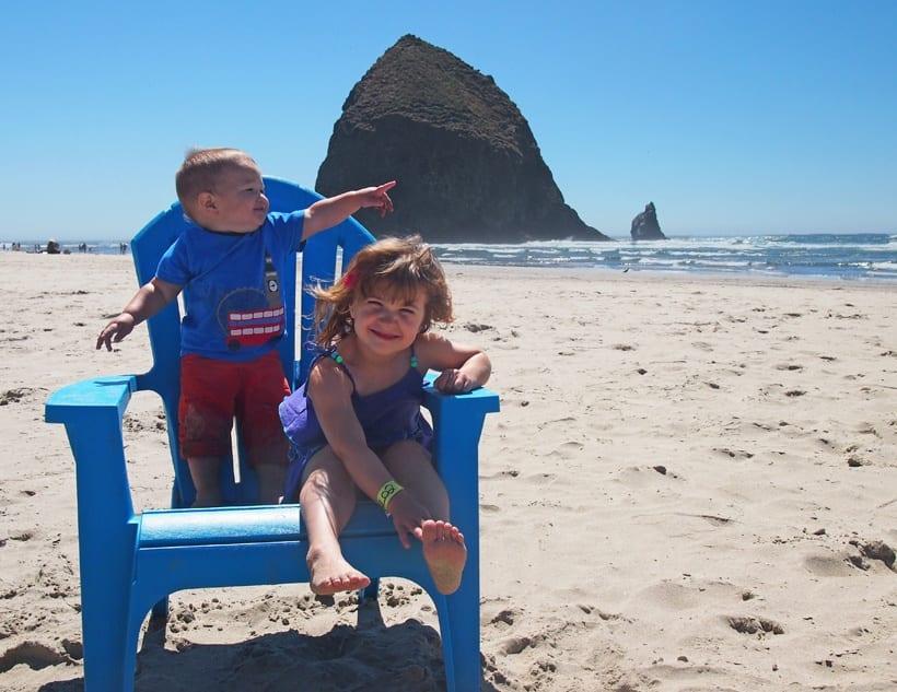 Cannon Beach Oregon Blue Chair