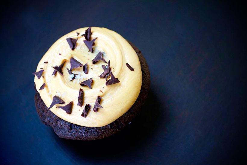 Salted caramel chocolate cupcake