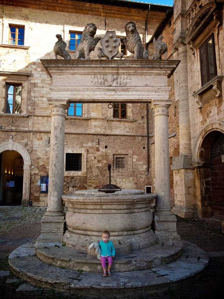Montepulciano with kids