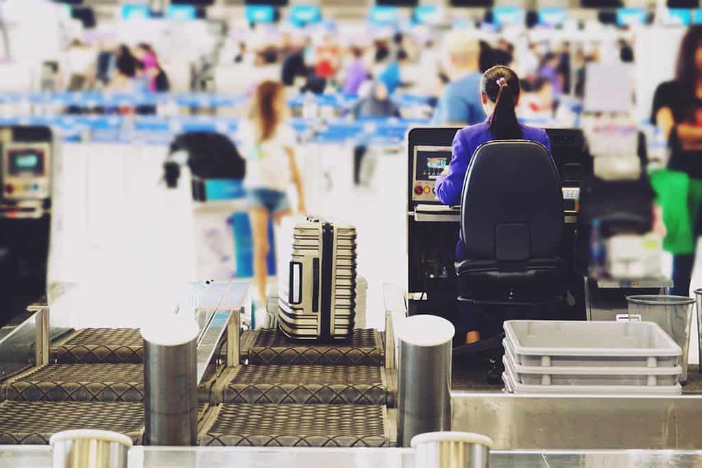Gate check luggage