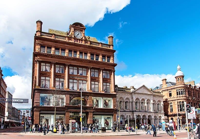 The Bank Buildings in Castle Street Belfast