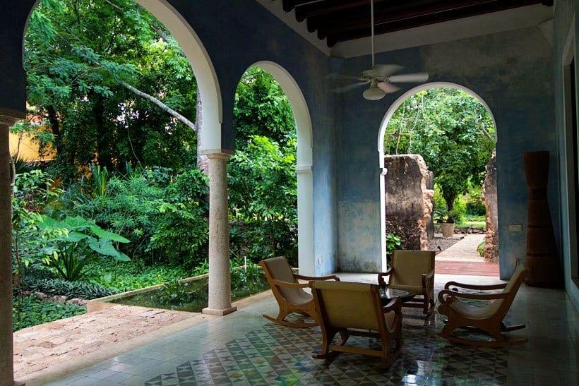 veranda in Casa Ramon at Hacienda Petac Merida Mexico