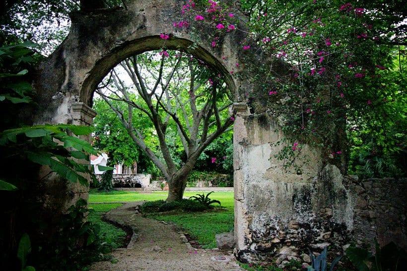 Archway in Hacienda Petac Merida Mexico