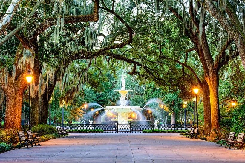 Autumn in Savannah Georgia