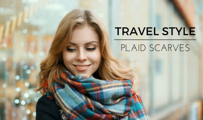 Travel Style Plaid Scarves