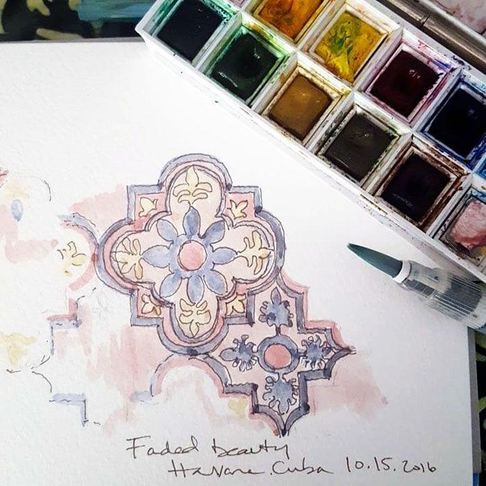 travel journal watercolors