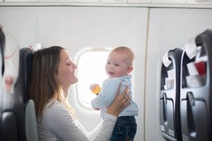 Tips for flying with a baby #travel #travelwithkids
