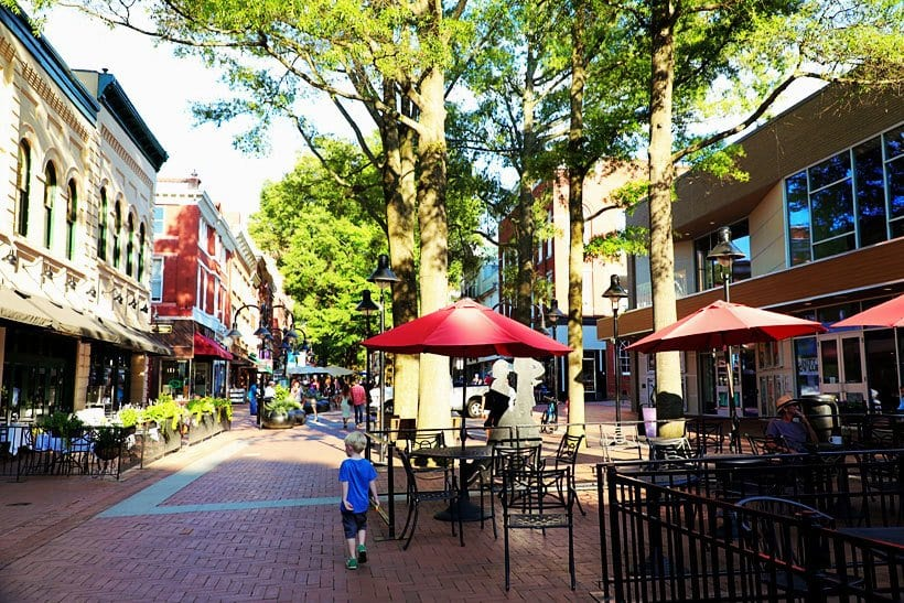 Downtown Mall Michie Tavern Monticello Charlottesville Amtrak with Kids