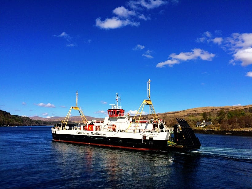 Scotland with Kids Itinerary- ferry-to-isle-of-mull