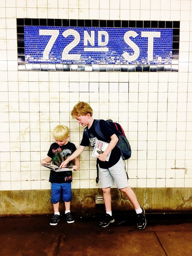 NYC with Kids Riding the Subway