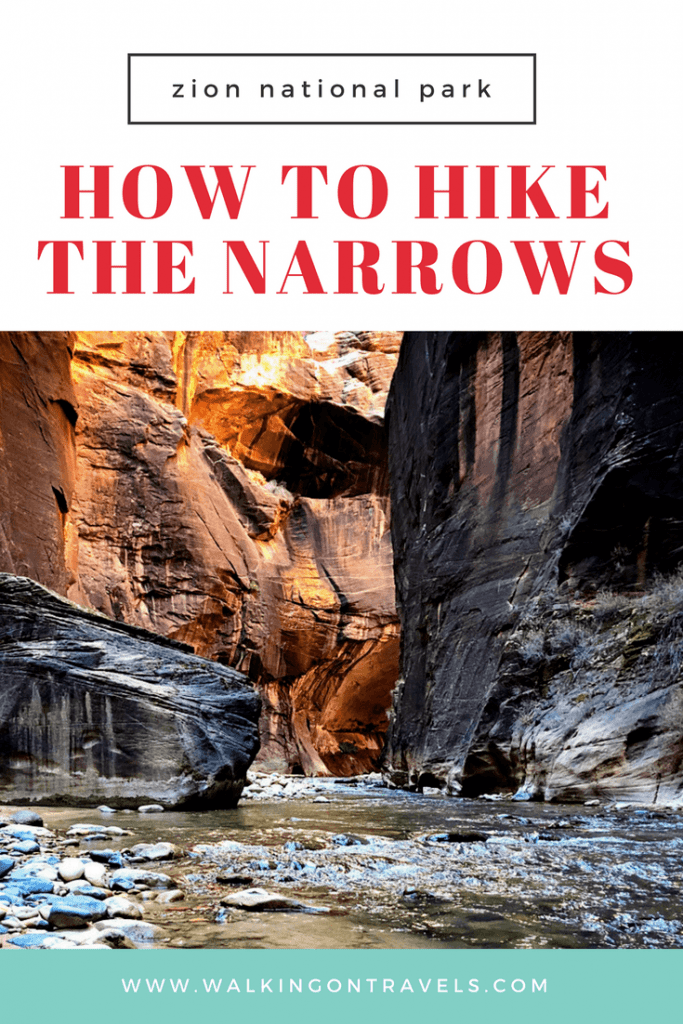 How to Hike the Narrows in Zion National Park: Your guide to hiking one of the most epic trails in the world in America's national park #nationalpark #zion #hiking #usa