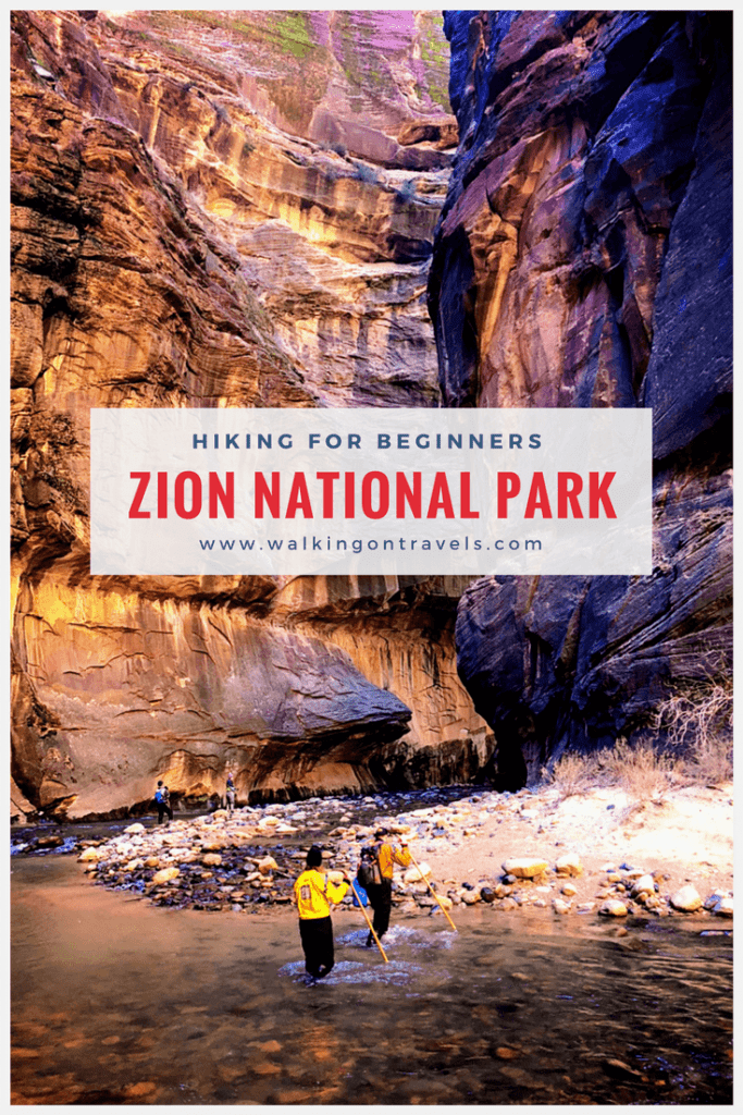 How to hike the Zion Narrows as a Novice in Zion National Park #nps #zionnationalpark #thenarrows