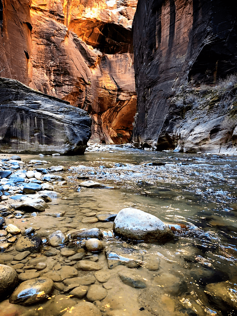 Hiking the Zion Narrows Zion National Park Utah