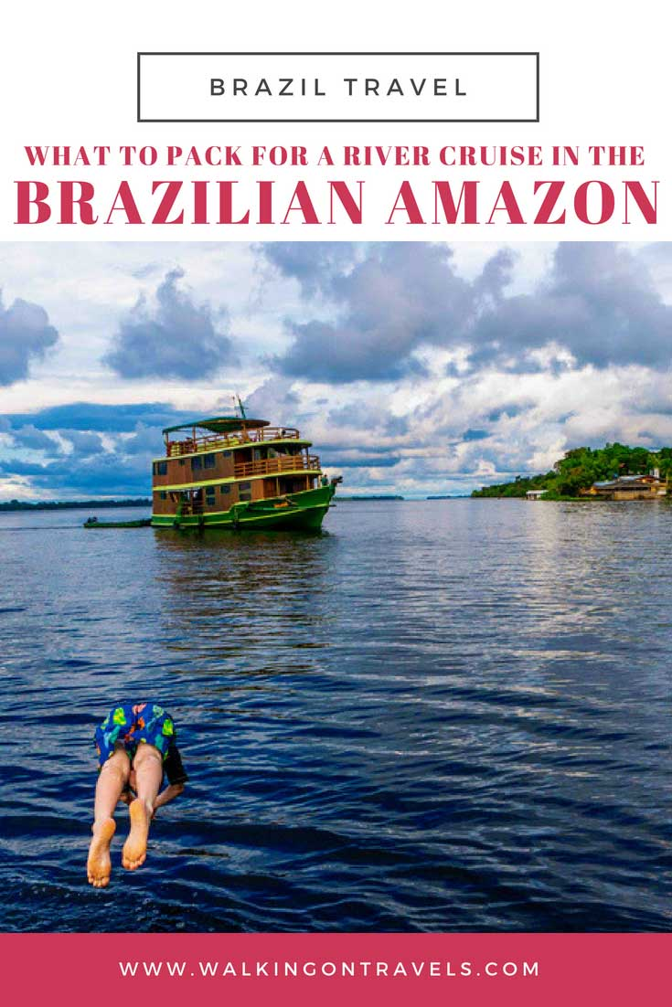 What to pack for a Brazil vacation in the Amazon. Whether you are trekking through the jungle or cruising down the river on an Amazon River Cruise you will need this packing list to make sure you don't forget any of the essentials (and more) on your trip. #amazon #brazil #packinglist
