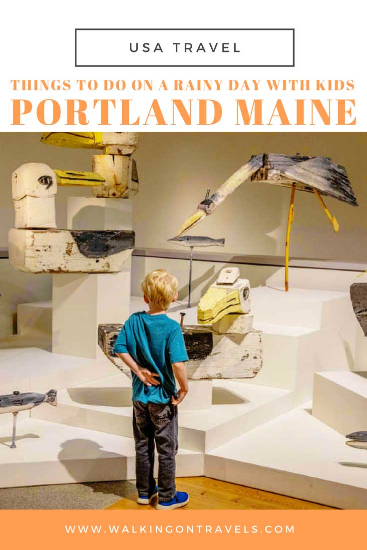 Things to do in Portland Maine with Kids on a rainy day: Museums, Maine blueberries, rock climbing and so much more when you can't figure out what to do in Portland this week. #maine #portland #portlandwithkids