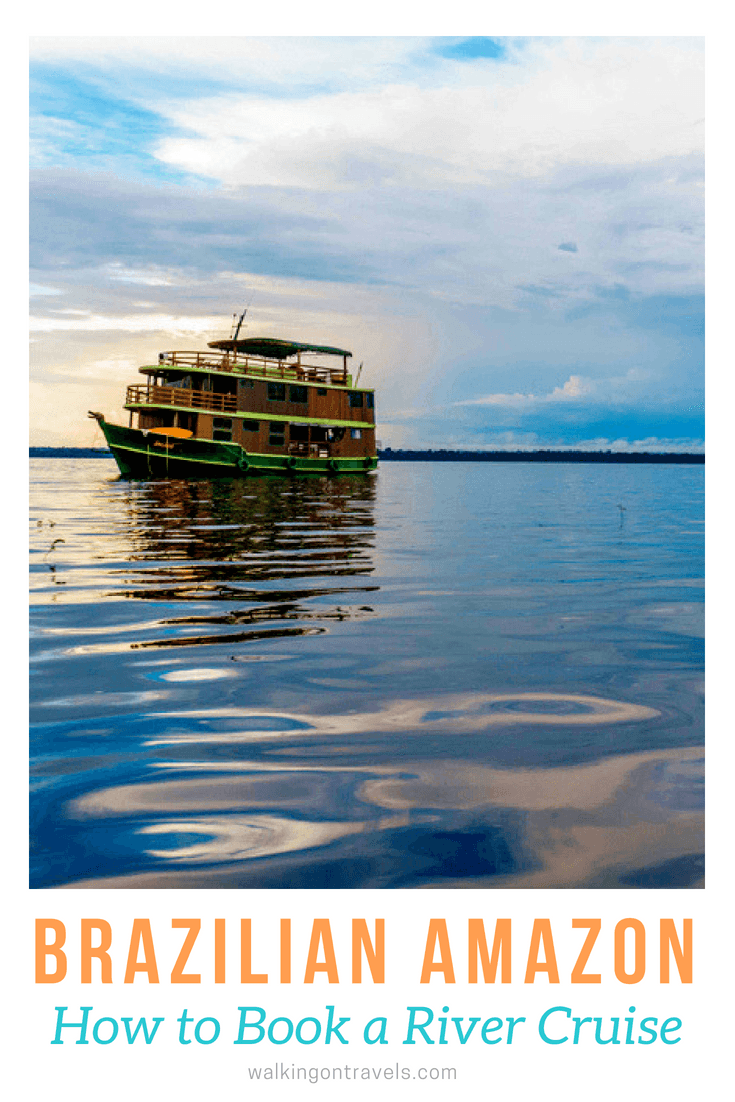 Book a trip to Brazil on a river boat to see animals in the wild, meet local communities living along the Rio Negro, take a truly unplugged vacation, and reconnect as a family in the wilds of Brazil on a river cruise. #brazil #rivercruise #rionegro #familytravel