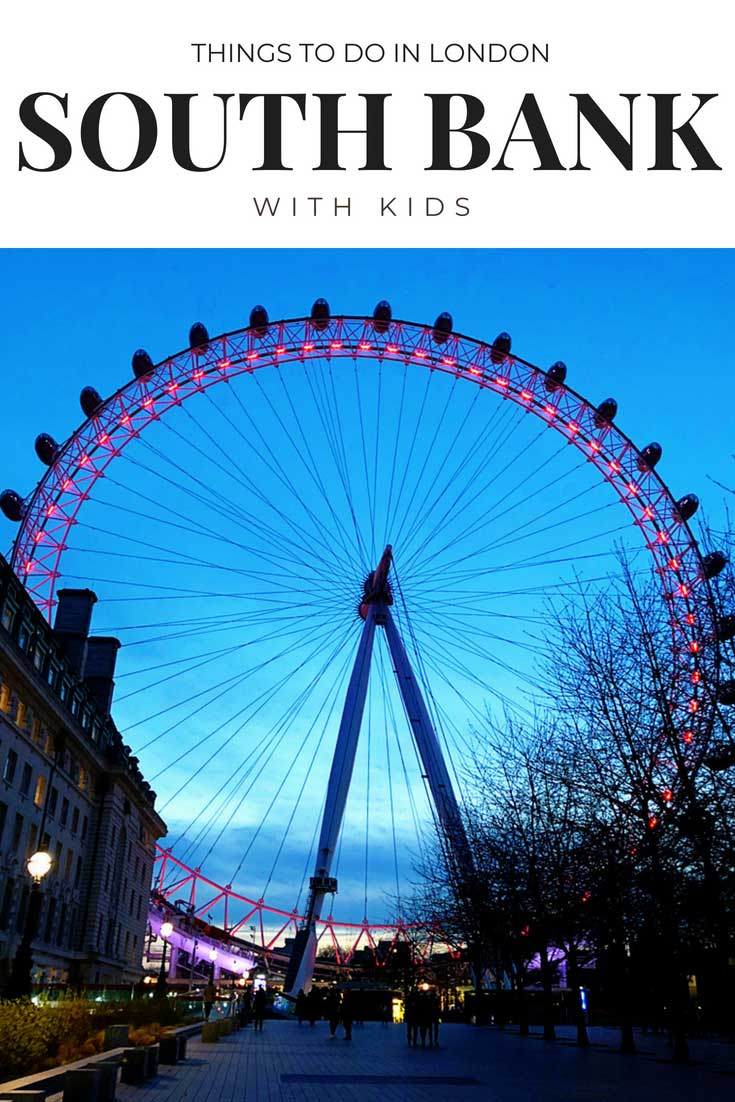 Things to do in London's South Bank with Kids: London Eye, Jubilee Park, Food markets, London restaurants, London Hotels and more tips to start planning your next trip to London. #london #europewithkids #londonwithkids #familytravel