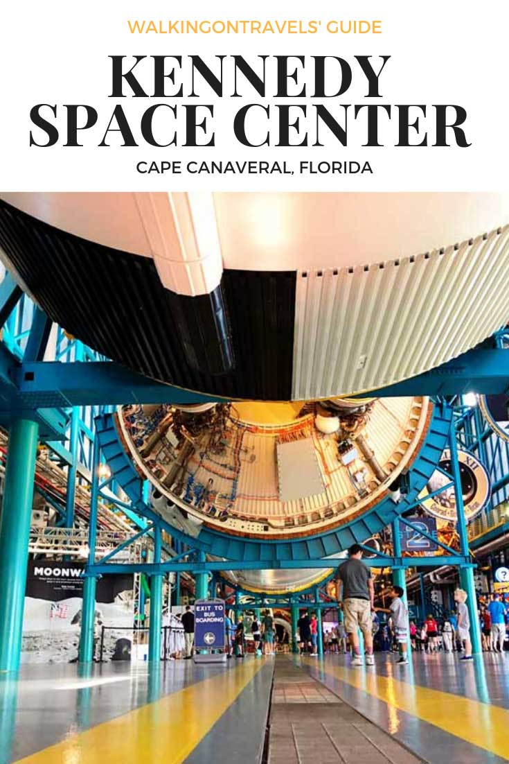 Kennedy Space Center with Kids in Cape Canaveral Florida is the perfect day trip from Kissimmee Florida and Orlando with Kids when you are on a Florida vacation. Explore the NASA space program, Space X and learn where we have been and where we are headed to the Moon, Mars and beyond. #kennedyspacecenter #florida #kissimmee #familytravel