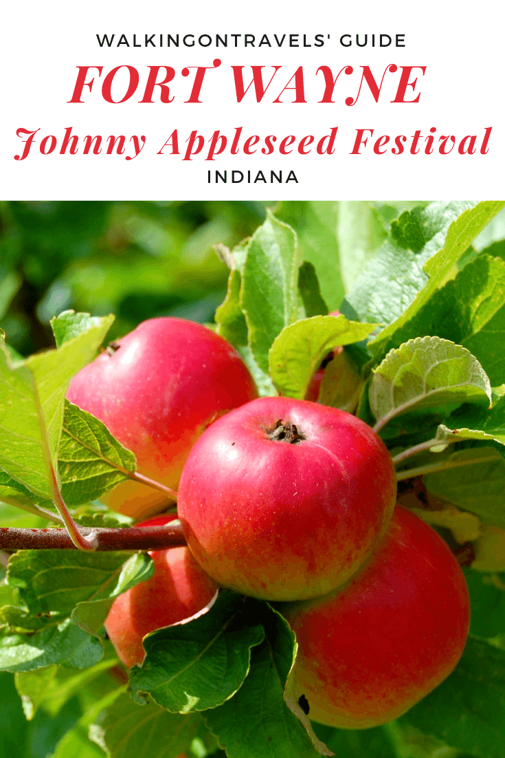 Fort Wayne Indiana Johnny Appleseed Festival: Grab all of your favorite apple recipes, apple cider, Abe Lincoln Moments, Midwest history and learn why Johnny Appleseed's final resting place is in Fort Wayne Indiana during this annual autumn festival #apples #autumnfestivals #indiana #fortwayne #familytravel #midwest