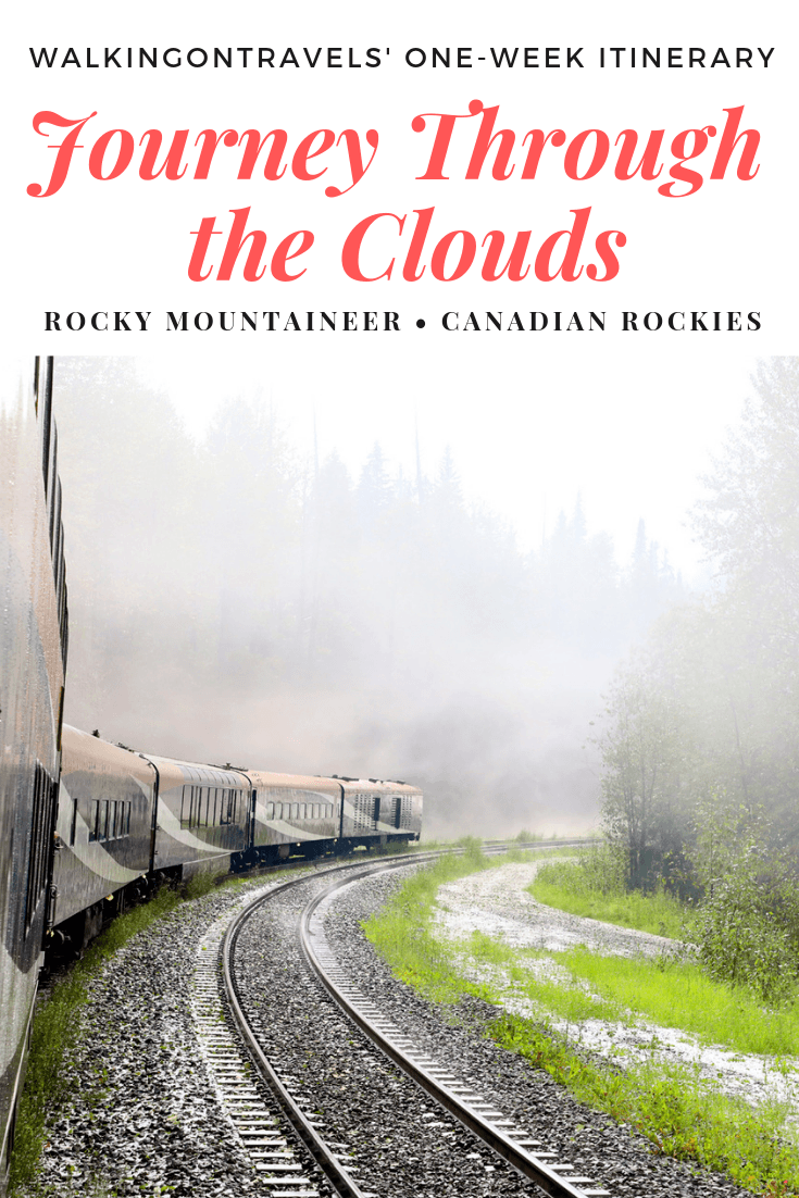Ultimate Girls Guide to a Week-long itinerary with Rocky Mountaineer Journey Through the Clouds: climb aboard the Rocky Mountaineer train for a fun filled week of luxury, dining, road tripping the Canadian Rockies through #Jasper National Park and #Banff National Park. #rockymountaineer #train #canadianrockies #alberta #canada