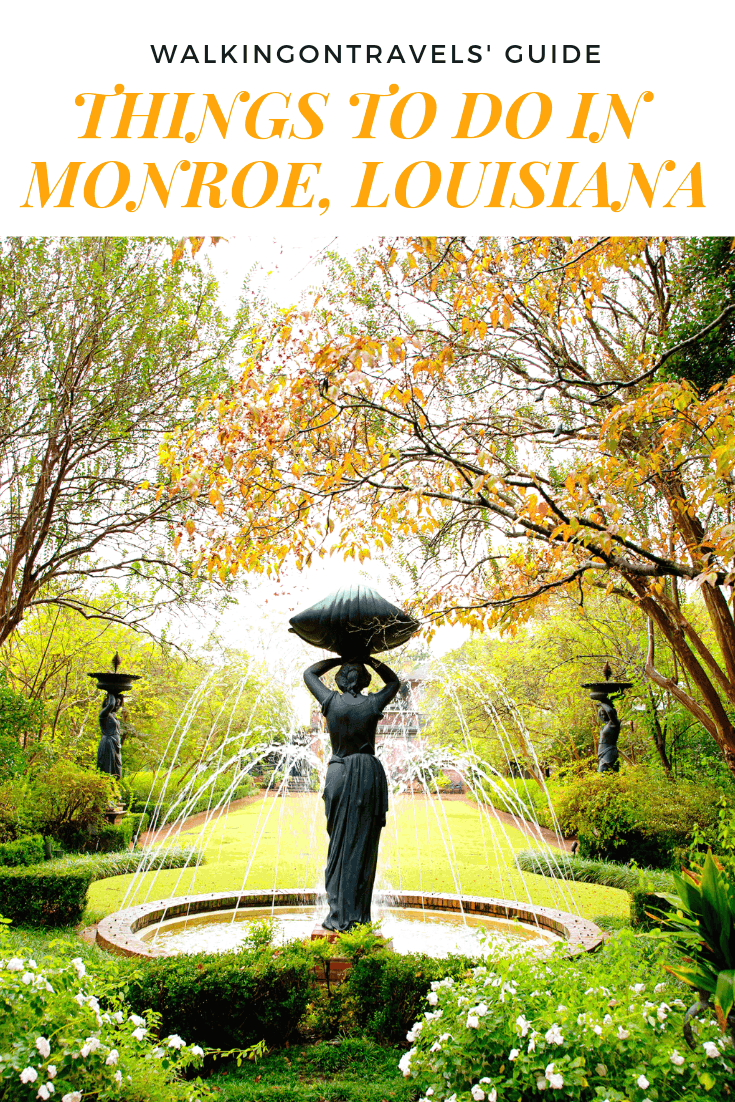 Things to do in Monroe LA : when you are planning a trip to Louisiana or Louisiana road trip you will want to stop in Monroe and West Monroe for museums, gardens, great food and history in Northeast Louisiana #monroe #westmonroe #monroela #louisiana #louisianatravel #feedyoursoul #louisiana #usatravel #nela #bayou