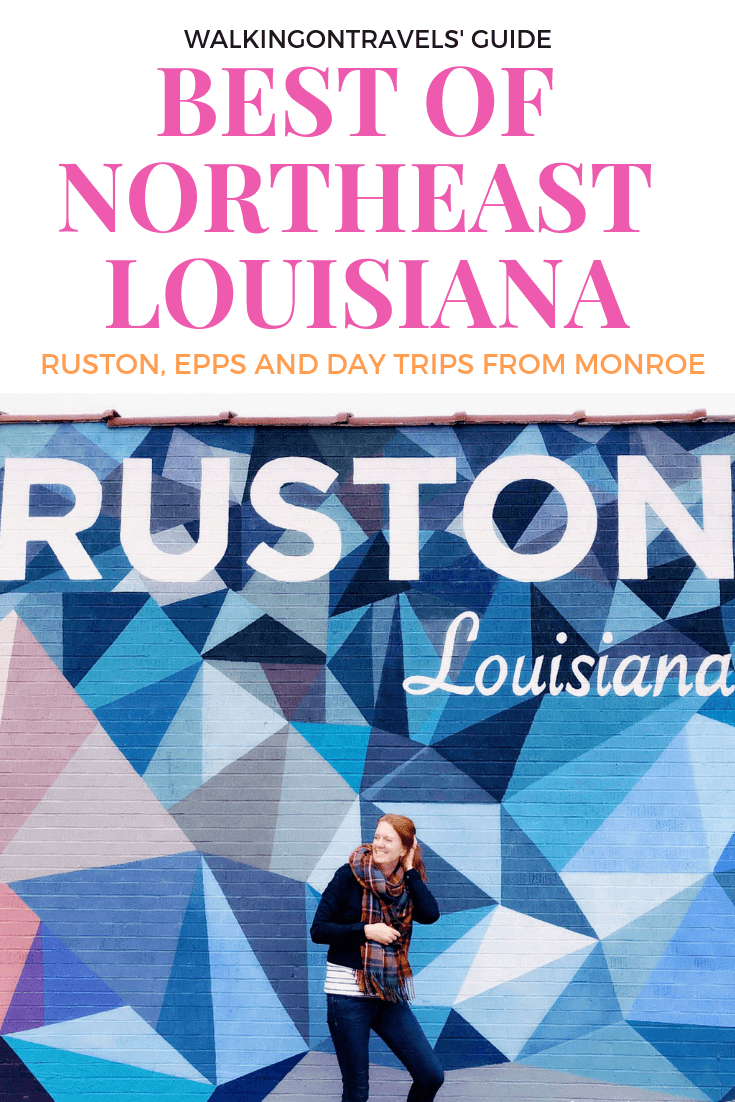 Best of Northeast Louisiana: Discover the best day trips from Monroe, including Ruston, Epps and UNESCO World Heritage Site Pioneer Point when you travel to Louisiana or plan a Louisiana road trip. #louisiana #monroela #westmonroe #nela #roadtrip