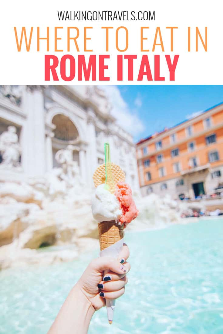 Where to eat in Rome Italy: Travel to Italy means eating in Rome and no one wants to pick a bad restaurant in Rome especially if they are in Rome with kids. Whether you are traveling with kids or not, this Rome restaurant list will get you out, tasting your way across the city and enjoying the best food Rome has to offer #italy #rome #romerestaurants #foods #italianfood #italyfood #europe #italytrip