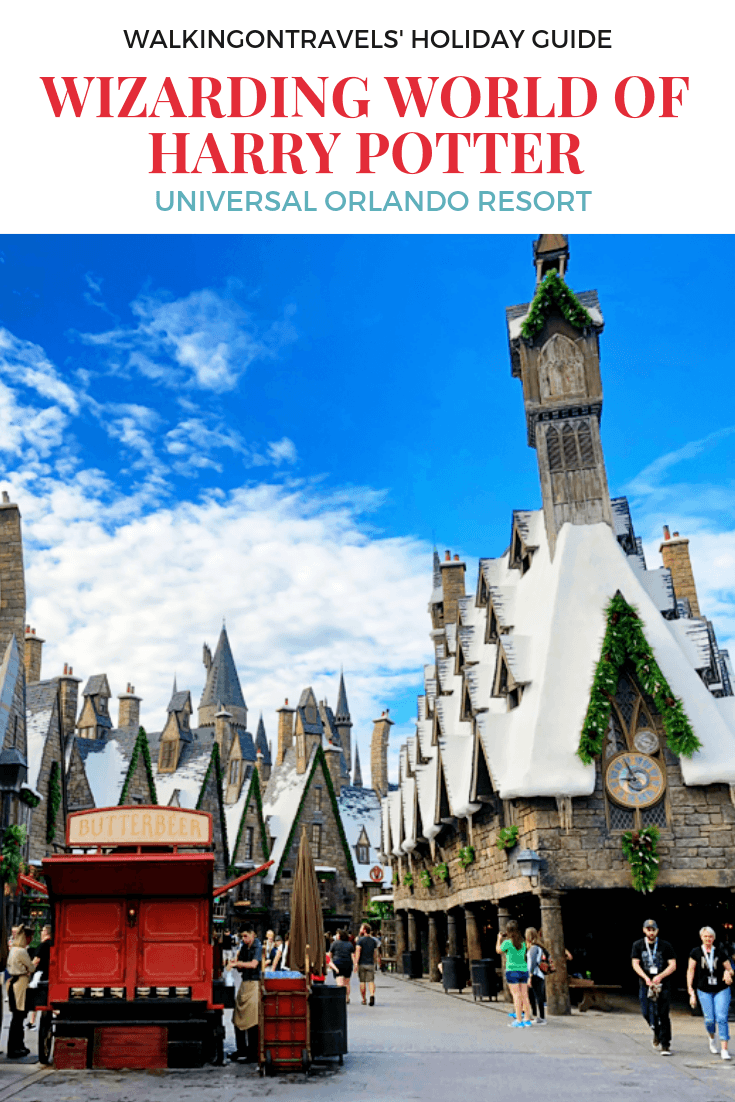 Guide to the Holidays at the Wizarding World of Harry Potter at Universal Orlando Resort: Six types of Butterbeer, festive decor, holiday gifts, Christmas Chorales, the Magic of Hogwarts at Christmas and one fire-breathing dragon make Harry Potter World one of the best places to be during the holiday season. #harrypotter #wwohp #wizardingworldofharrypotter #orlando #florida #universalorlandoresort #pottermore #universal