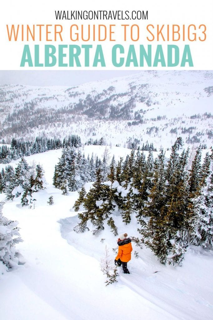 Winter Guide to SkiBig3 Alberta Canada: Learn the mountains, ski slopes, where to eat at the ski lodges, ski shuttles, and more when you visit Lake Louise Ski Lodge, Sunshine Village and Mt Norquay on your next Banff Ski trip. #banff #skibig3 #alberta #canada