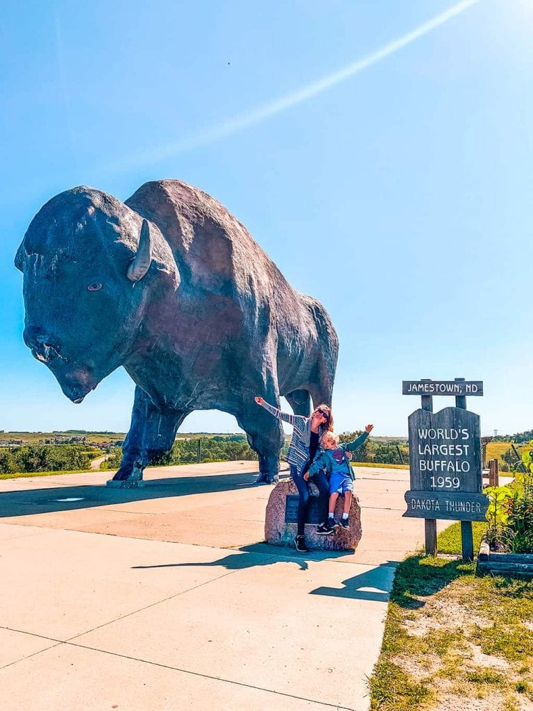 Worlds Largest Buffalo Monument Jamestown ND