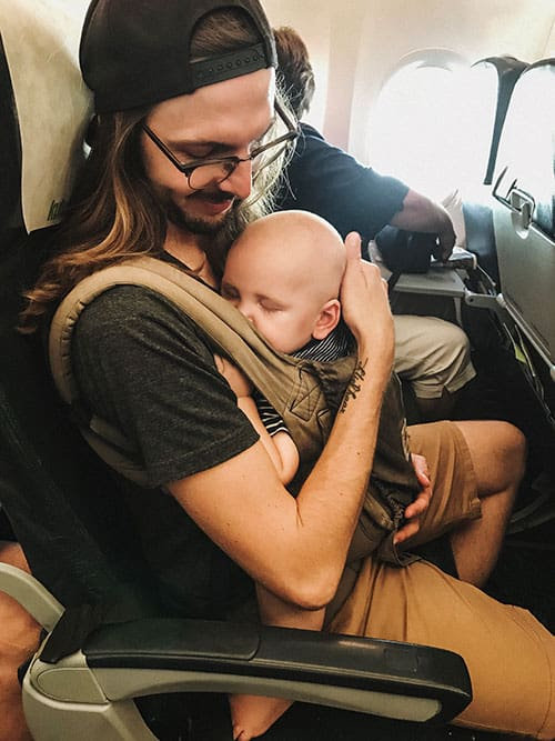 Baby Carrier Sleeping
