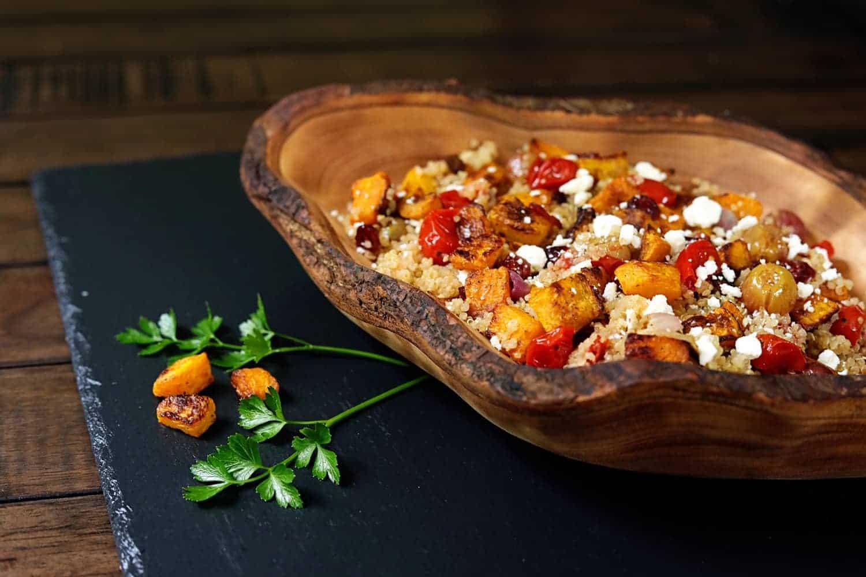 vegetarian roasted butternut squash quinoa salad