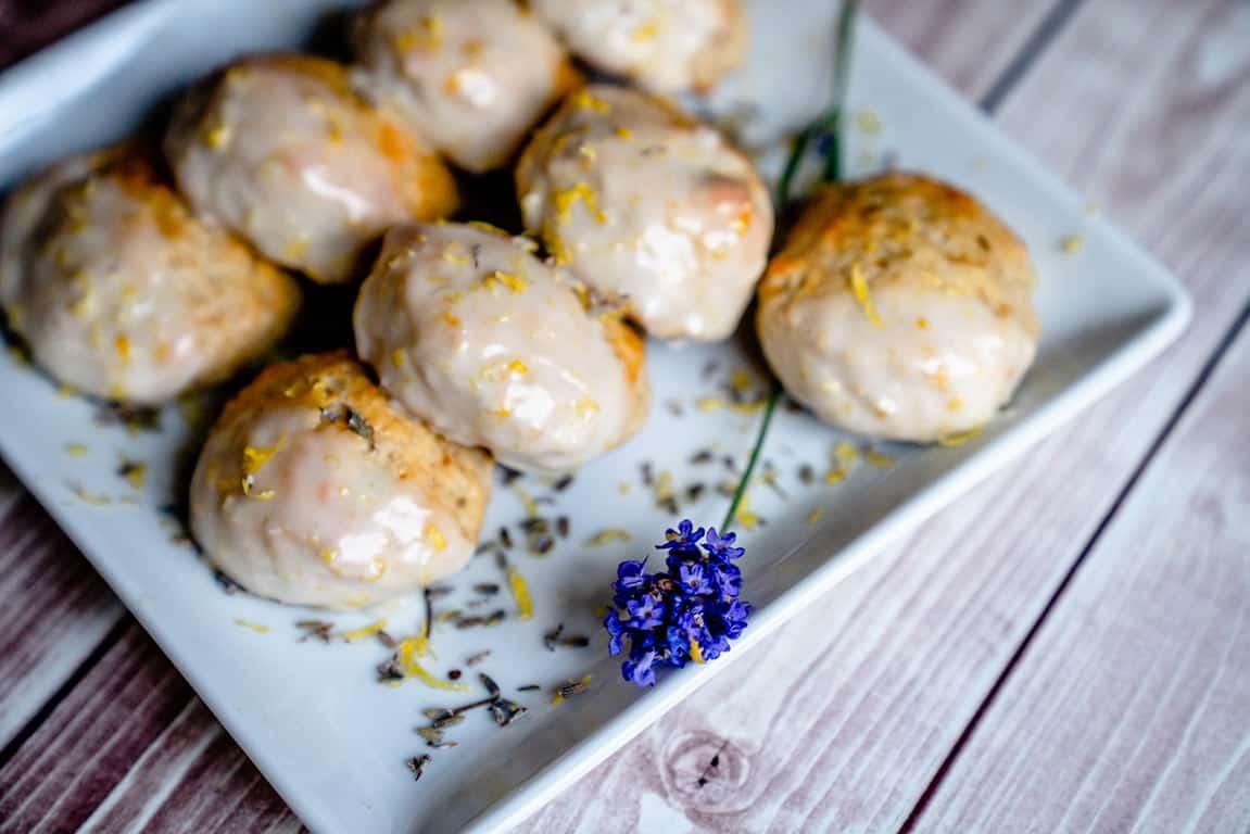 Lemon and Lavender Scones