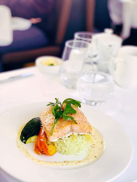 Food aboard the Rocky Mountaineer through the Canadian Rockies