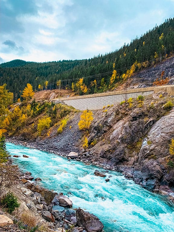Rocky Mountaineer through the Canadian Rockies on a train trip