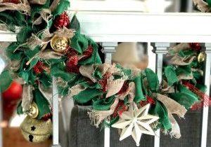 DIY Burlap Christmas Garland